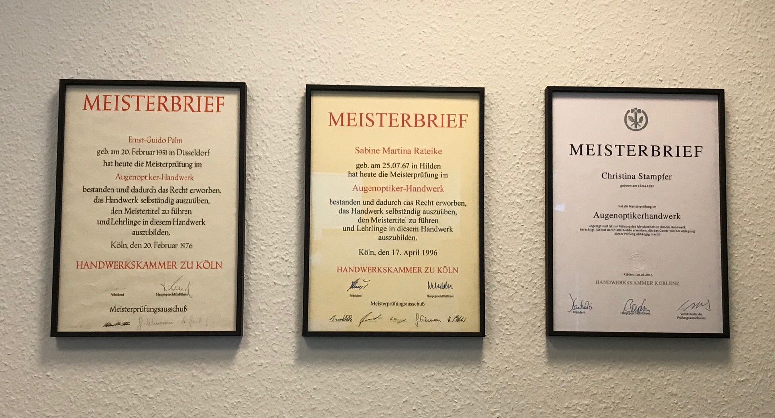 Meisterbriefe
